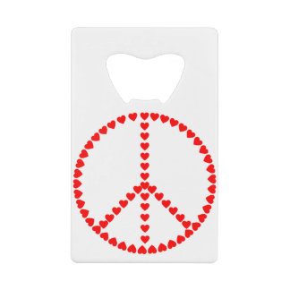 Red Hearts Round Peace Sign