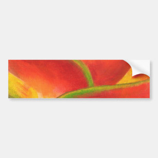 Red Heliconia Flower Art - Multi Bumper Sticker