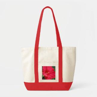 """Red Hibiscus"" Fashion Tote Tote Bag"