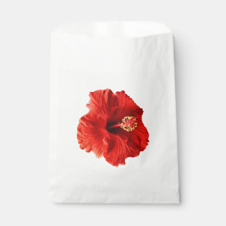 Red Hibiscus Favour Bags