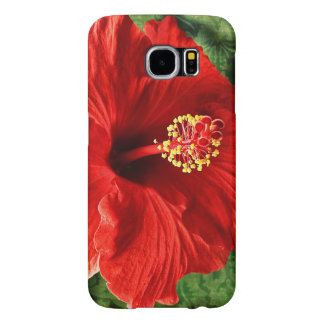 Red Hibiscus Samsung Galaxy S6 Cases