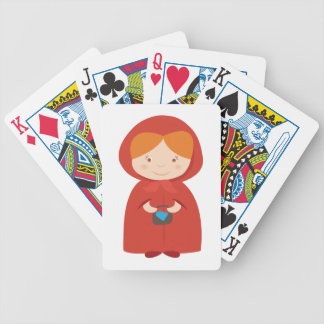 Red Hood Bicycle Playing Cards