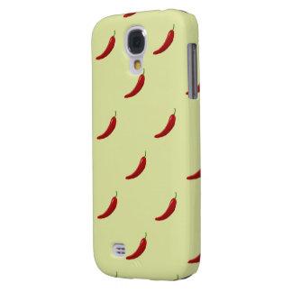 red hot chili pattern samsung galaxy S4 Galaxy S4 Case
