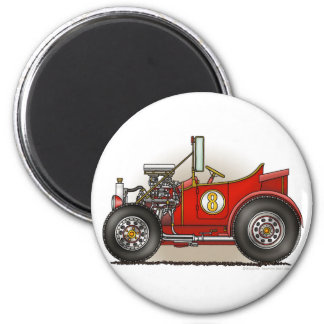 Red Hot Rod Car Magnets