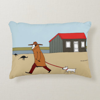 Red Hut in Rye Harbour Decorative Cushion