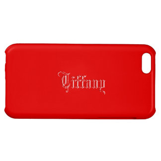 Red iPhone 5 Glossy finish case of Tiffany
