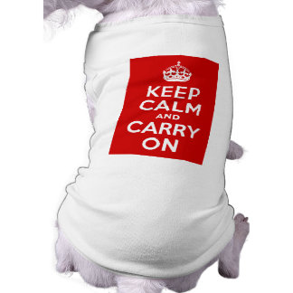 Red Keep Calm and Carry On Shirt