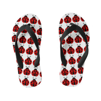Red Lady Bugs Kid's Jandals