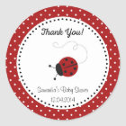 Red Ladybug Baby Shower Sticker