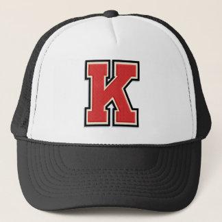 """Red Letter """"K"""" Trucker Hat"""