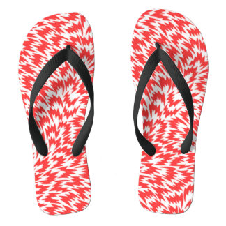 Red Lightning Pattern Jandals