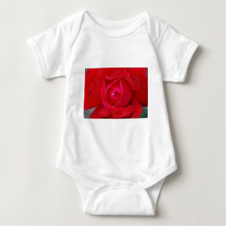 Red Lilac Rose Flower and Dew Gifts Baby Bodysuit