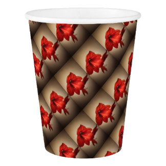 red lily paper cup