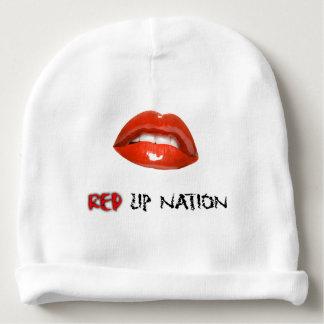 Red Lip Nation Baby Cotton Beanie Baby Beanie