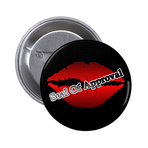 Red Lips Seal Of Approval Buttons