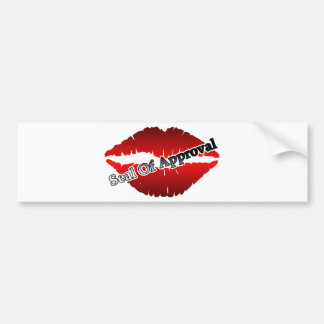 Red Lips Seal Of Approval Bumper Sticker
