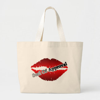Red Lips Seal Of Approval Jumbo Tote Bag