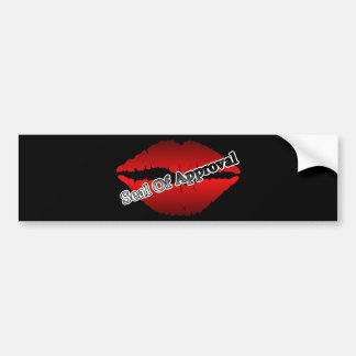 Red Lips Seal Of Approval Pop Art Car Bumper Sticker