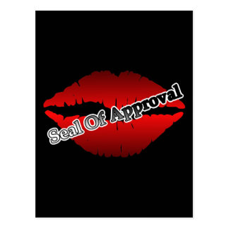 Red Lips Seal Of Approval Postcard