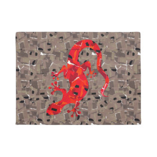 Red Lizard Collage Doormat