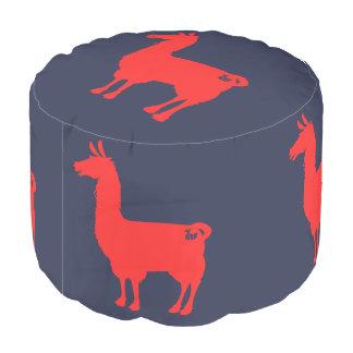 Red Llama Pouf