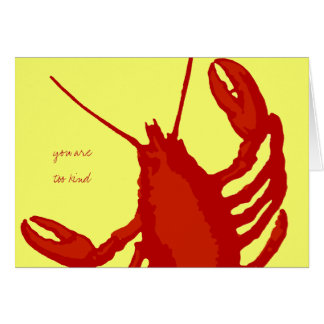 Red Lobster Yellow Custom Thank You Note Note Card