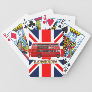Red London Double Decker Bus Bicycle Playing Cards