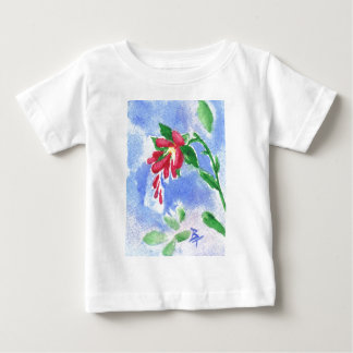 Red Love Flower aceo Infant Tshirt