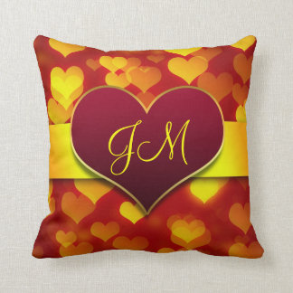 red love heart Valentine's Day Cushions