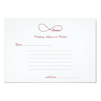 Red Love Infinity Wedding Wishes & Advice Cards