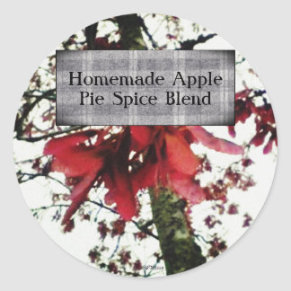 Red Maple Keys Botanical Natural Spice Label Round Sticker