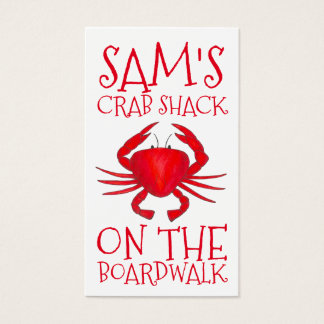 Red Maryland Crab Shack Crabs Beach Food Ocean Business Card