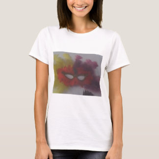 red mask with yellow feathers 3 T-Shirt