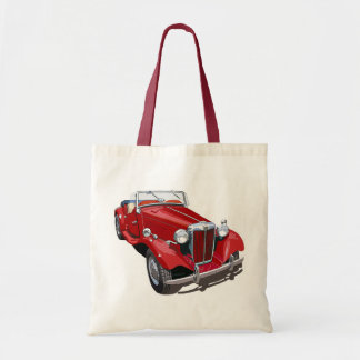 Red MG TD Budget Tote Bag
