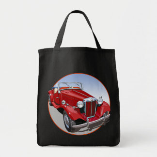 Red MG TD Grocery Tote Bag