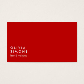 Red Minimalist Business Cards