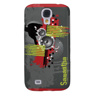 Red Modern Grunge DJ Galaxy S4 Case