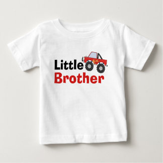 Red Monster Truck Little Brother Baby T-Shirt