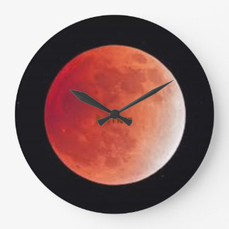 Red Moon - Round (Large) Wall Clock