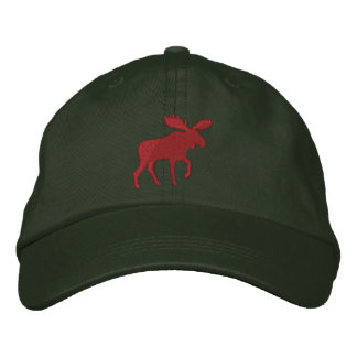 Red Moose Embroidered Cap