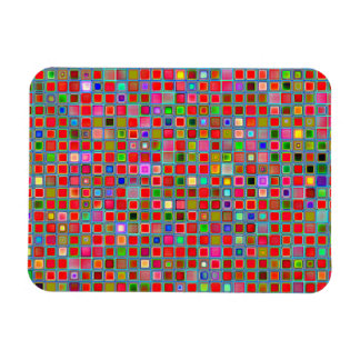 Red Moss Green And Blue Clay Tiles Pattern Vinyl Magnets