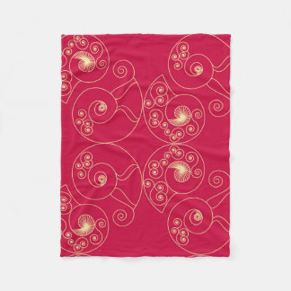 Red Nouveau Fleece Blanket