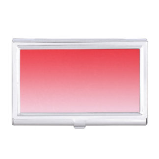Red Ombre Business Card Holder