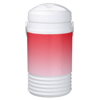 Red Ombre Drinks Cooler