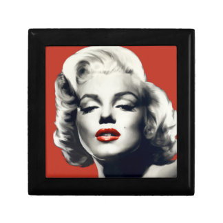 Red on Red Lips Marilyn Gift Box