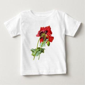 Red Opium Poppy by Pierre Joseph Redoute Baby T-Shirt