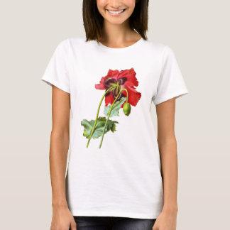 Red Opium Poppy by Pierre Joseph Redoute T-Shirt