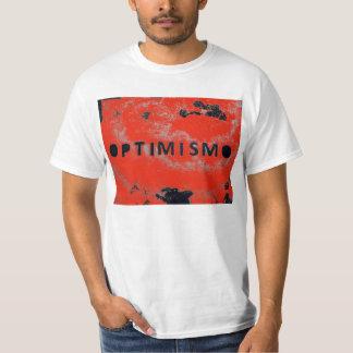 red optimism tee shirt