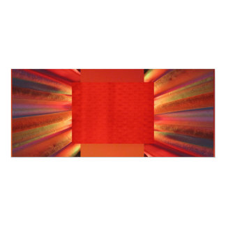 Red Orange 10 Cm X 24 Cm Invitation Card
