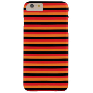 Red, Orange and Black Stripes Barely There iPhone 6 Plus Case